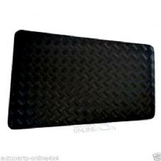 Defender 90 Chequer Plate Bonnet Protector - BLACK  RE567B